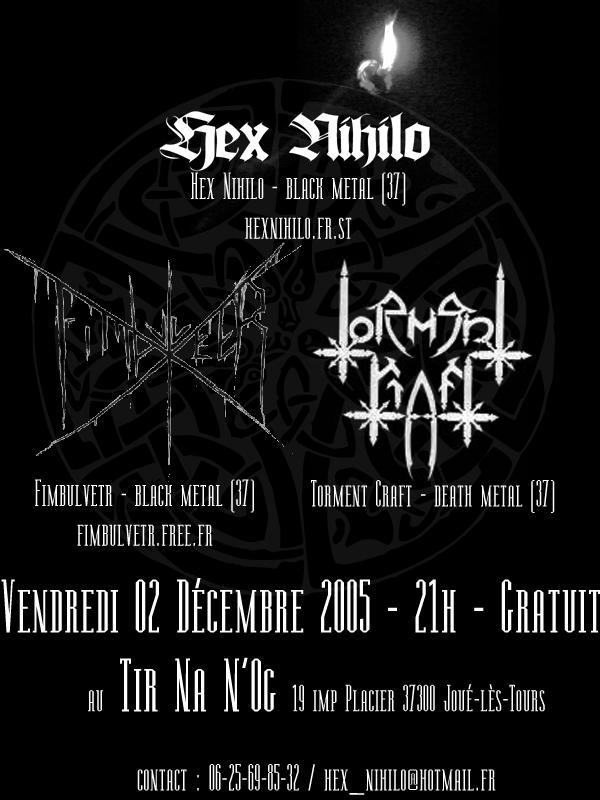 Hex Nihilo + Torment Craft + Fimbulvetr au Tir Na N-Og 02/12 Flyer2005